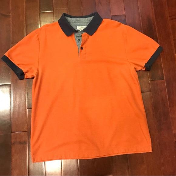b5a47fd97c0 L.L. Bean Other - Mens L.L. Bean Casco Bay Short Sleeve Orange Polo